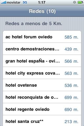 Puntos de acceso en Oviedo
